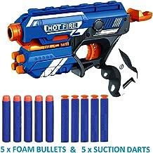 Vikas gift gallery Blaze Storm Manual Soft Bullet Shooting Gun Toy with 10 Safe Foam Bullet for Kids (Multicolour)