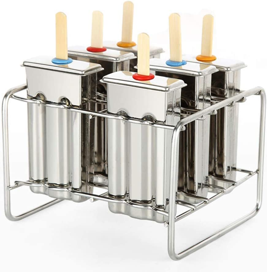 Stainless Steel Max 67% OFF Ice Lolly Popsicle 6Pcs Kit Pop Molds Makers Be super welcome
