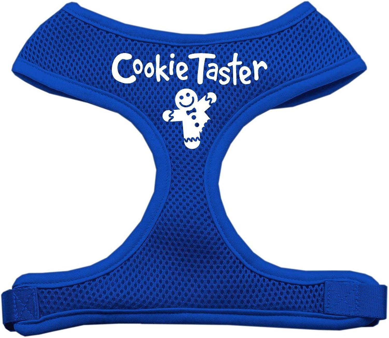 Mirage Pet Products Cookie Tasser Screen Print Soft Mesh Dog Harnesses, Medium, Blue