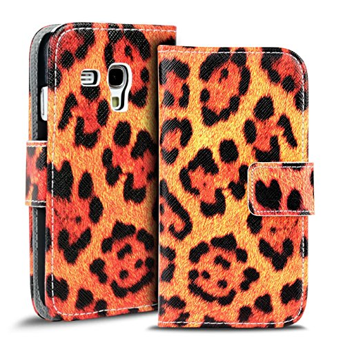 Verco Handyhülle Galaxy S3 Mini Muster, Motiv Hülle für Samsung Galaxy S3 Mini Book Case Flip Cover - Design 5