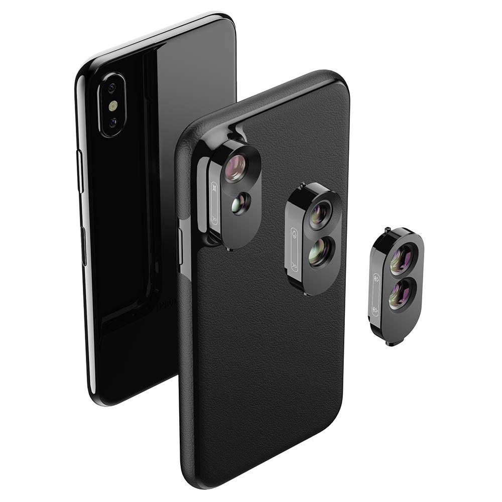 APEXEL 3 en 1 Dual Camera Phone Lens Kit Phone Case + Add-on ...