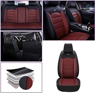 Cubiertas de asiento de coche Volvo XC60-juego completo de Cuero Sintético Rojo//Negro
