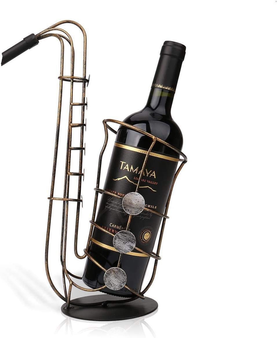 5 ☆ popular Luckya Wine Rack Realistic Bar Crafts Style Special Campaign Saxophone
