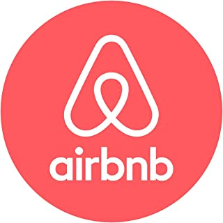 "Set of (2) AIRBNB Round Logo Premium Die-Cut Decal 4"" Tall"