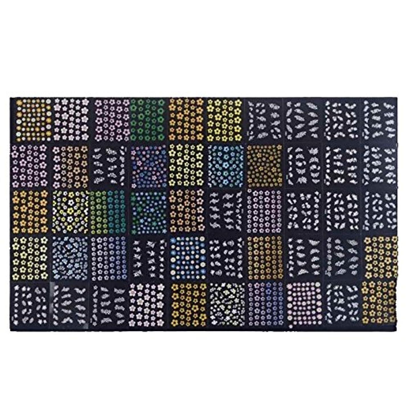 ヘビ後ろに永遠のSODIAL 50枚3Dミックスカラー フラワーデザイン ネイルアートステッカーデカール 美しいファッションマニキュアアクセサリー デコレーション化粧品