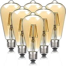 FidgetFidget 6 stuks gloeilampen, LED-gloeilampen, vintage gloeilampen, decoratieve gloeilampen, ideaal voor huis, café, b...