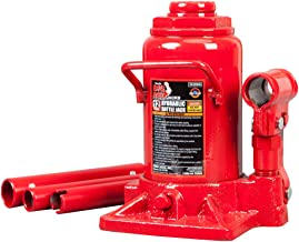 BIG RED T91207A Torin Hydraulic Stubby Low Profile Welded Bottle Jack, 12 Ton (24,000 lb)..