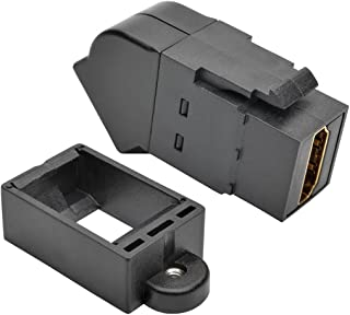 TRIPP LITE Black HDMI All-in-One Keystone/Panel Mount Angled Coupler (P164-000-KPA-BK)