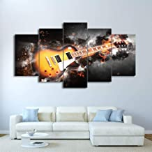 HD print modular wall art abstract lightning picture frame 5 pieces guitar canvas painting living room home decoration Pen...
