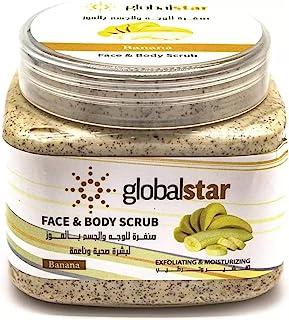 Global Star Face and Body Scrub, Banana, 500 ml