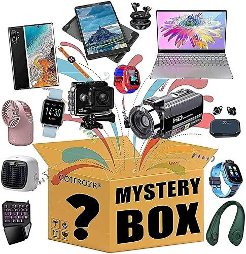 RONGESAEFS Mystery Box Mystery Box Gamer Contiene Regalos Inesperados, como Drones, Relojes Inteligentes, Altavoces Bluetooth, Cámaras Digitales, Etc.El Mejor Regalo para Familiares Y Amigos.