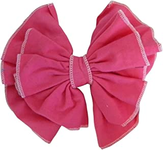 15.24 厘米缝制软弹头蝴蝶结发卡适合女孩(花饰配件) 均码