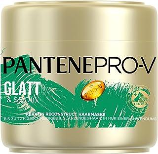 Pantene Pro-V Glatt & Seidig Keratin Reconstruct Haarmaske 300ml Für Widerspenstiges Haar, Haarpflege Glanz, Anti-Frizz, A...