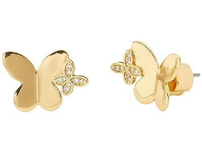 Kate Spade New York In A Flutter Studs Earrings (Clear/Gold) Earring