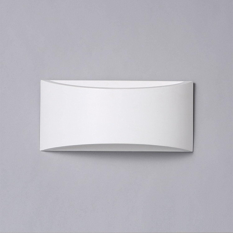 Firsthgus E27 Wandleuchte Moderne minimalistische Single Head Schlafzimmer Nachttischlampe Restaurant Balkon Gang Treppe Gips Wandleuchte, weies Licht