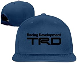 GJdd_diy Racing Development TRD Peaked Snapback Baseball Cap Flat Brim Hat