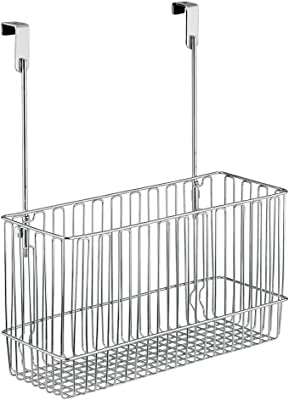 InterDesign 小物 バスケット ドアハンガー 洗面所 収納 Classico クローム 50110EJ [並行輸入品]