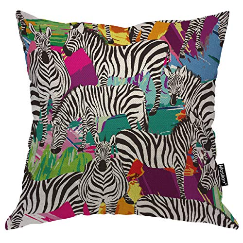 Zebra Tropic Animal Cushion Cover