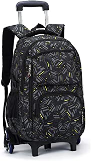 (A3) - Asdomo Rolling Laptop Backpack Luggage Wheeled Backpack Trolley School Bags with Six Wheels for Boys Girls Kids Teenagers Students Schooling Travel