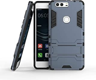 Yhuisen 2 In 1 Iron Armour Tough Style Hybrid Dual Layer Armor Defender PC+TPU Protective Hard Case With Stand Shockproof ...