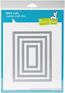 Lawn Fawn Lawn Cuts Craft Die - LF1442 Outside In Stitched Rectangle Stackables