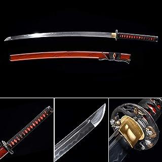 xinan2018 Samurai Katana Japanese Full Tang Carbon Steel Sword 1060 T10 Battle..