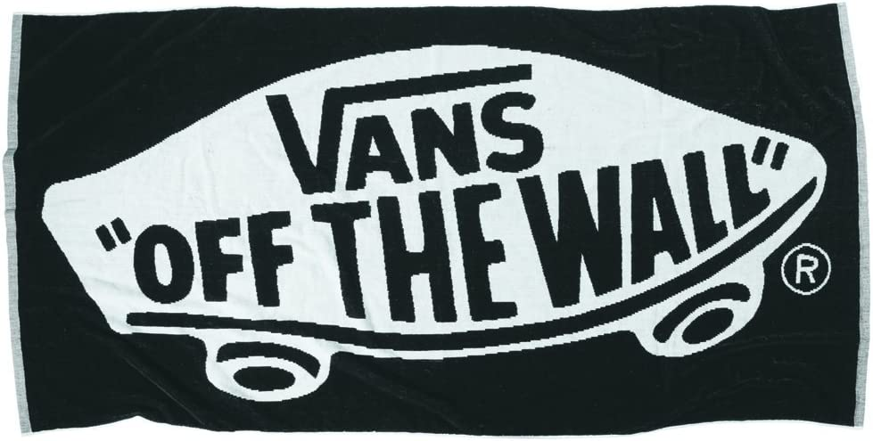 Vans Serviette de Bain Reversible Off The Wall Towel Noir Noir ...