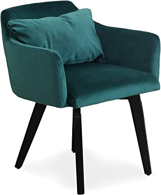 Menzzo Dantes Otros Muebles, Terciopelo, Azul, 56: Amazon.es ...