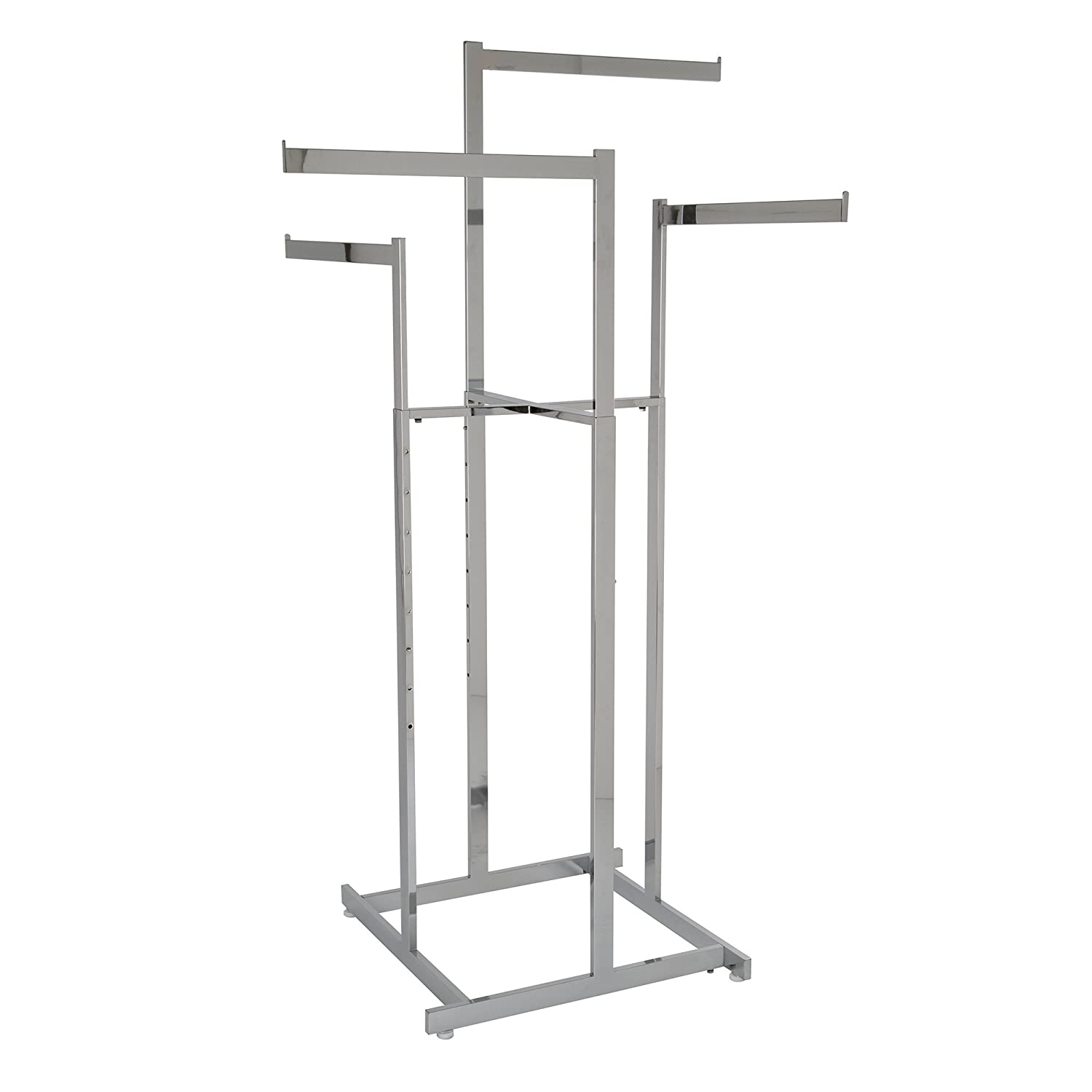 Clothing Rack Max 74% OFF – Chrome 4 Sq Year-end gift Arms Blade High-Capacity Way