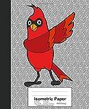 Isometric Paper: Dabbing Cardinal Bird Book (Weezag Isometric Paper Notebook)