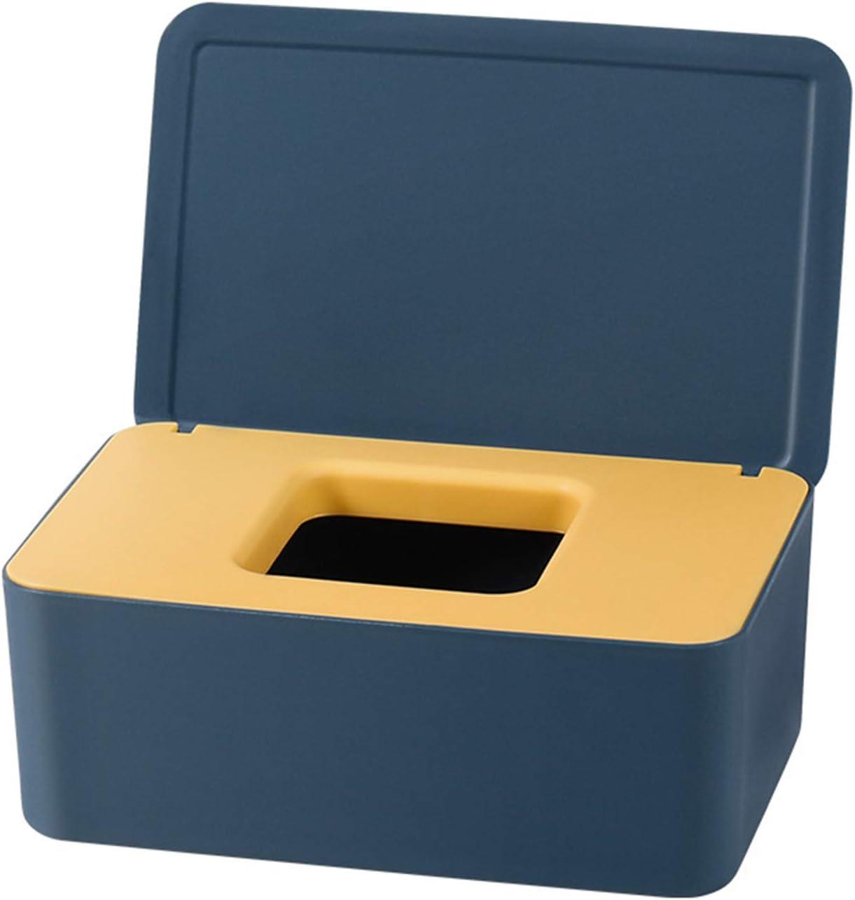 QKFON Caja de almacenamiento para toallitas húmedas, toallitas húmedas, para papel de seda seco y húmedo, soporte para servilletas, toallitas húmedas, soporte dispensador con tapa para el hogar