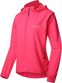 Outto Women's Cycling Jacket Convertible UPF50+ Windproof Zip Off Sleeves