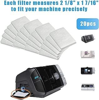 20 piezas filtro de algodón CPAP - Filtros de repuesto universales desechables Película de filtro de polvo PM2.5 para máquinas CPAP S9 S10, blanco - Accesorios para filtros de aire