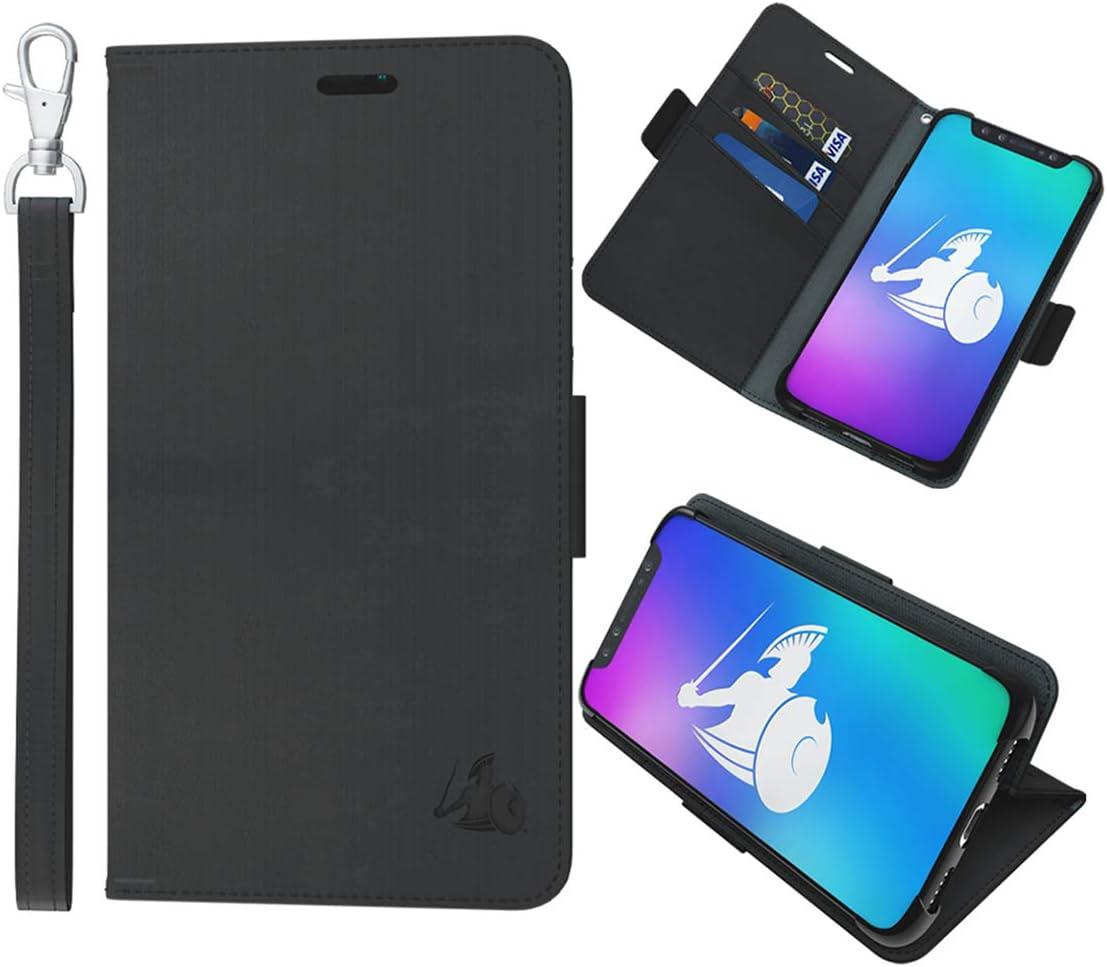 DefenderShield Compatible iPhone 11 Pro 5G & EMF Radiation Protection Case - Detachable Magnetic EMF Shield & RFID Blocker Wallet Case w/Wrist Strap