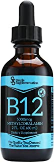 Vitamin B12 Drops - Top Quality at The Right Price - Why Pay More. - Vegan - 5000mcg x 60 Servings - Max Strength Methylco...