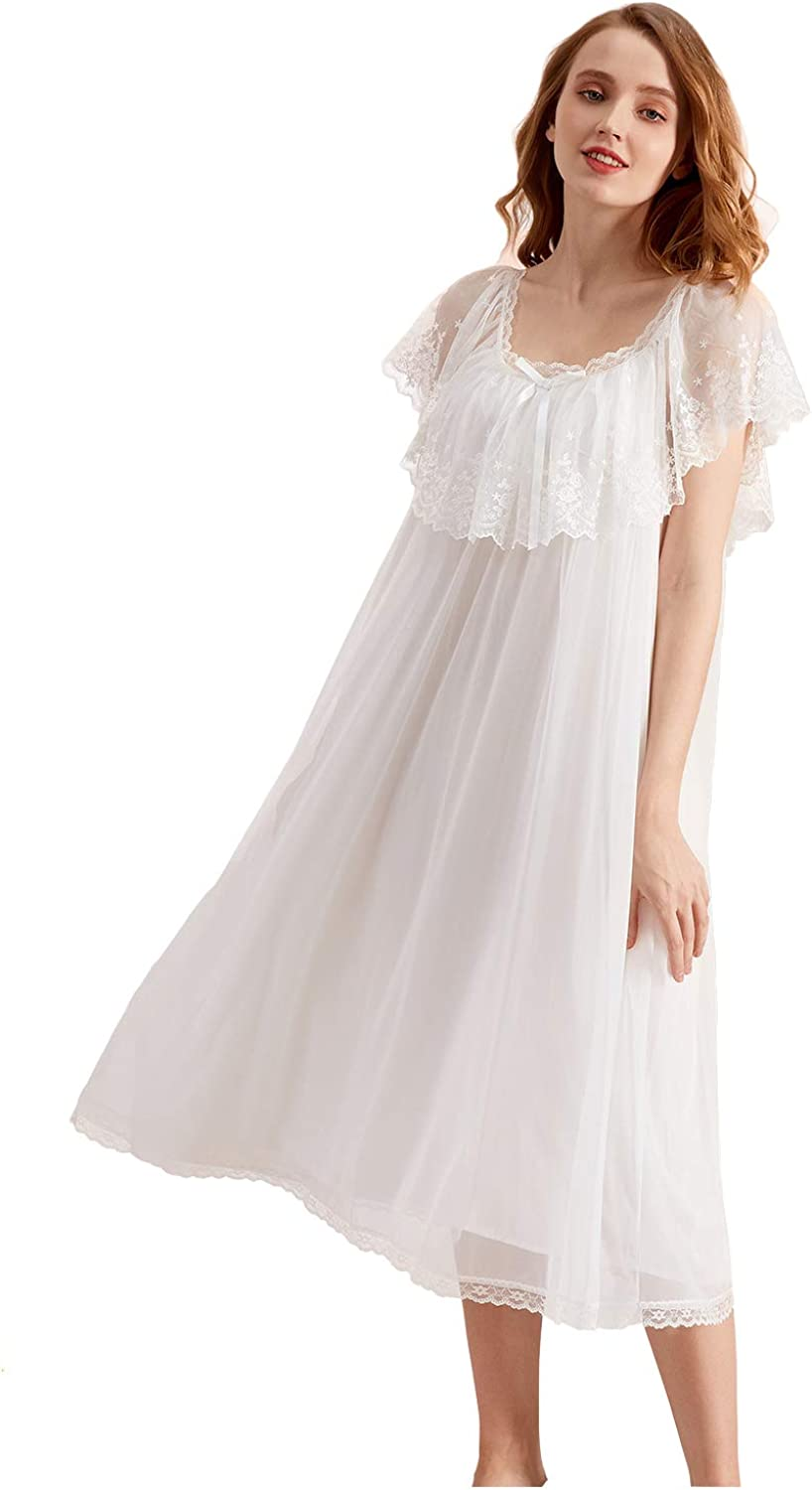 Super Soft Vintage Victorian Palace Style Viscos Max 88% OFF Modal Nightgown New Orleans Mall
