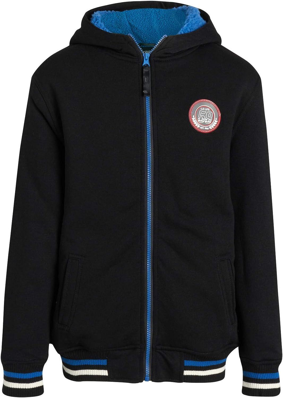 Galaxy by Harvic Boys' Sweatshirt - Sherpa Lined Full Zip Hoodie