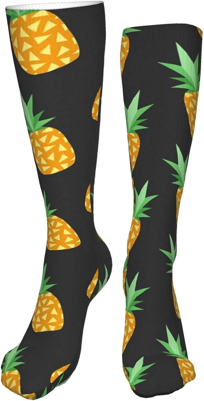 Cute Pineapple Women Premium High Socks, Stocking High Leg Warmer Sockings Crew Sock For Daily And Work