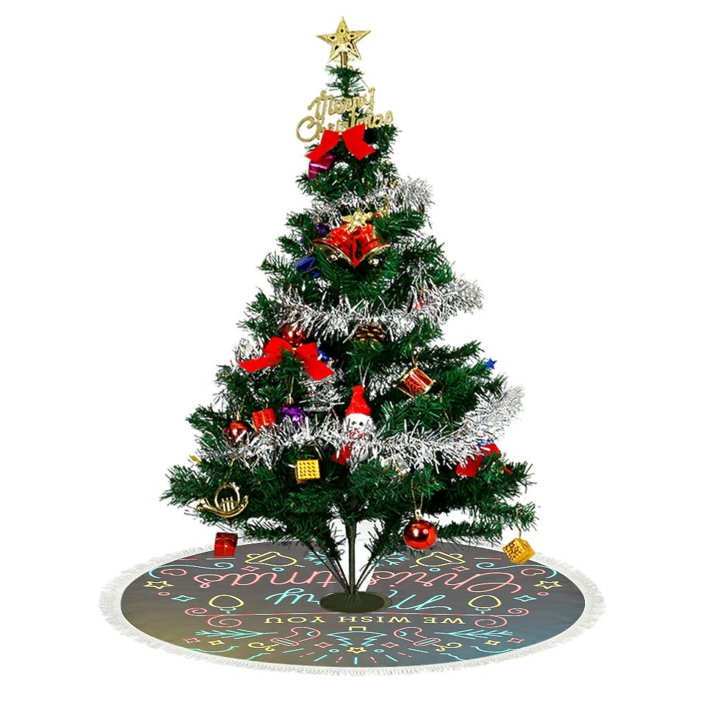 Árbol de Navidad de mimbre Falda - Dark: Amazon.es: Hogar