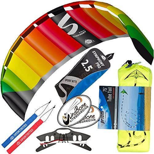 HQ Symphony Pro 2.5 Kite Rainbow Stunt High quality Display with Bundle Latest item Tail