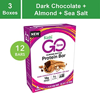 Kashi Go Protein Bars - Dark Chocolate Almond Sea Salt | Vegan | Non-Gmo, 21 Oz