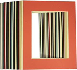 Golden State Art, Pack of 20 Mixed Colors 11x14 Picture Mats Matting with White Core Bevel Cut for 8x10 Pictures