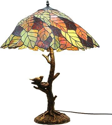 Tiffany lámpara de mesa, vidrieras hojas de la lámpara de ...