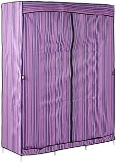 JHDDP3 Armoire Pliant Pliant vêtements en Acier Inoxydable armoires de Rangement de Rangement, Rose (Color : Purple)