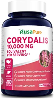 Corydalis 10,000 mg 200 Veg caps (Extract 20:1, Vegan, Non-GMO & Gluten-Free). Supports Healthy Cardiovascular Functions a...
