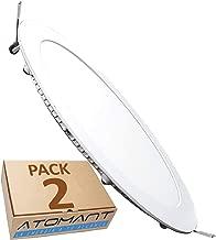 LED ATOMANT, S.L. Pack 2x Downlight Led Panel Extraplano Redondo, Iluminacion 18 W, Blanco Frio 6500K, 1600 Lumenes reales. Driver incluido, 225mm, 2