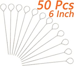 Muchfun 50Pcs 6 Inches Turkey Lacers, Stainless Steel Skewers for Trussing Turkey and Poultry