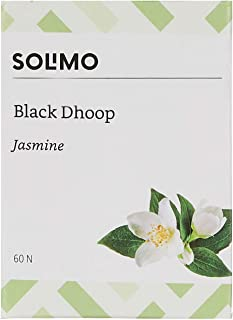 Amazon Brand - Solimo Black Dhoop, Jasmine, 60 Pieces