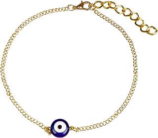 The Bling Stores Fancy Gold Plated Evil Eye Anklet For Women's & Girls | Trendy Anklet (1 Pc )