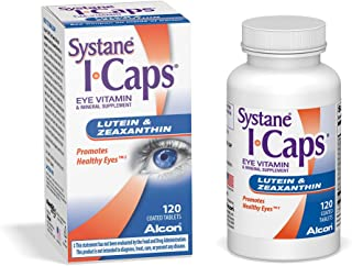 Systane ICaps Eye Vitamin & Mineral Supplement, Lutein & Zeaxanthin Formula, 120 Coated Tablets
